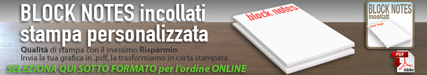 stampa block notes online