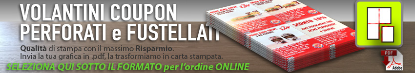 Stampa Volantini Coupon perforati