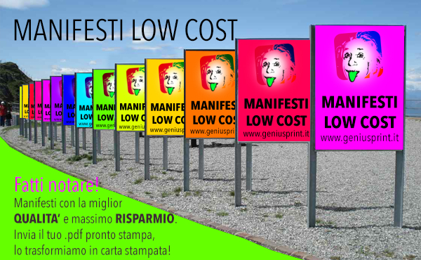 stampa manifesti lowcost online