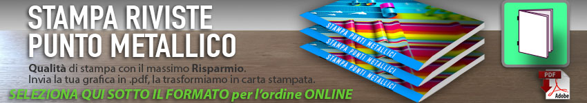 stampa riviste punto metallico low cost