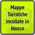 Mappe e piantine turistiche incollate in blocco