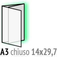 Immagine di Pieghevoli A3, chiusi a portafoglio 14x29,7cm a 373,74€