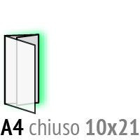 Immagine di pieghevoli aperto A4 chiuso 10x21 da 234,17€