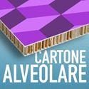 Cartone alveolare è un sandwich composto da due fogli di cartone piano e all'interno cartone ondulato tenuti insieme da collanti naturali. Viene utilizzato per realizzare totem da terra, cartelli da banco, scatole, packaging da interno.