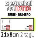 Immagine per la categoria biglietti lotteria SERIE e NUMERO per estrazioni del LOTTO