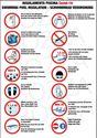Protocollo per regolamento piscina e solarium covid, grafica e stampa su pannelli adesivi totem e cartelli metallo